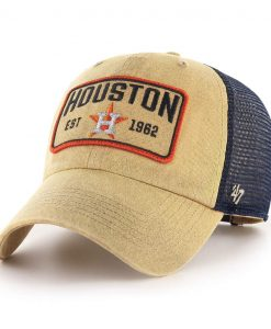 Houston Astros 47 Brand Gaudet Khaki Clean Up Mesh Snapback Hat