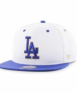 Los Angeles Dodgers Gold Vein Captain White 47 Brand Adjustable Hat