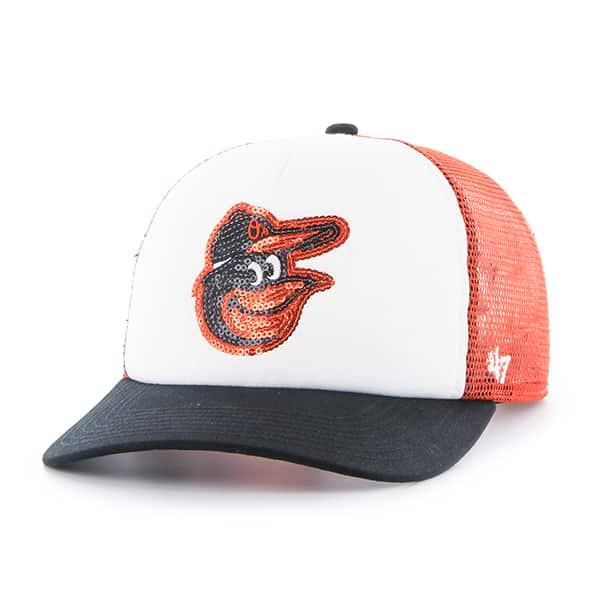 301f89a6 Baltimore Orioles Women's 47 Brand Orange Glimmer Captain Adjustable Hat
