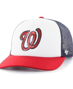 Washington Nationals Women's 47 Brand Navy Glimmer Captain Hat