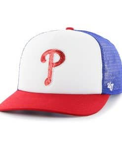 Philadelphia Phillies Women's 47 Brand Blue Glimmer Captain Adjustable Hat