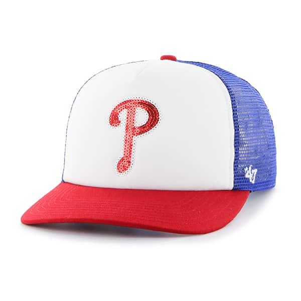 b6ada7fa Philadelphia Phillies Women's 47 Brand Blue Glimmer Captain Adjustable Hat