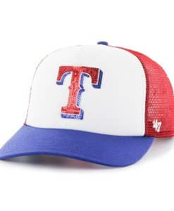 Texas Rangers Women's 47 Brand Red Glimmer Captain Adjustable Hat