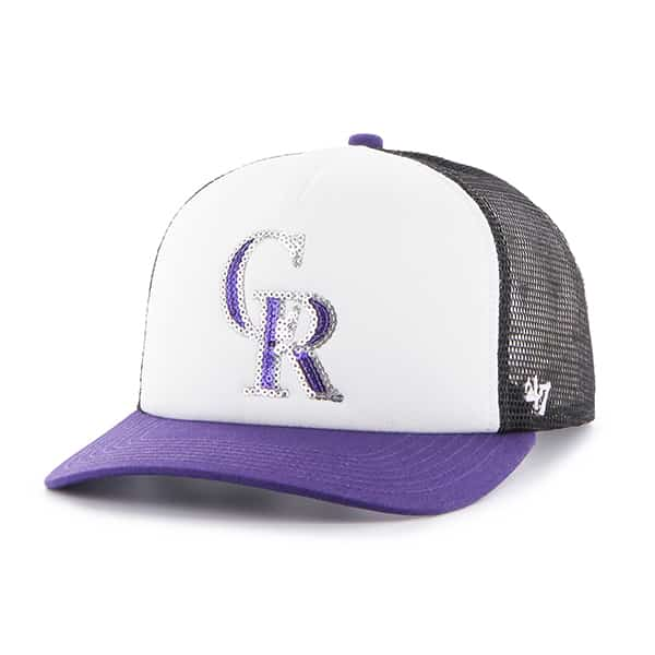 Colorado Rockies Glimmer Captain Cf Black 47 Brand Womens Hat