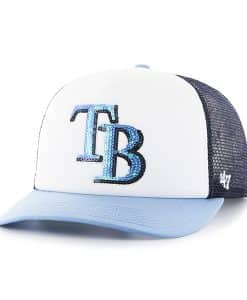 Tampa Bay Rays Women's 47 Brand Navy Glimmer Captain Adjustable Hat