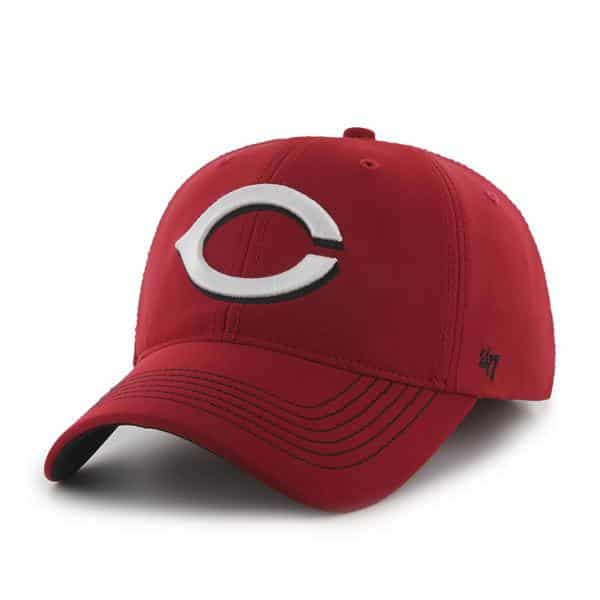 Cincinnati Reds Game Time Closer Red 47 Brand Stretch Fit Hat