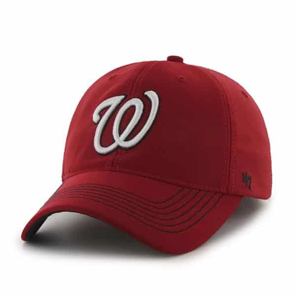 Washington Nationals Game Time Closer Red 47 Brand Stretch Fit Hat