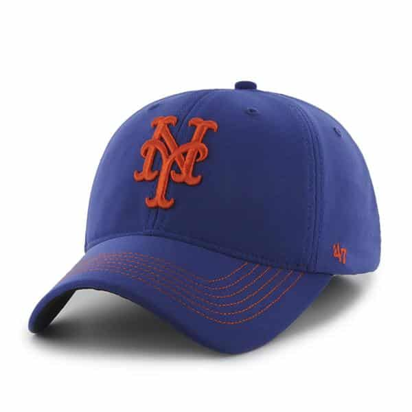 New York Mets Game Time Closer Royal 47 Brand Stretch Fit Hat