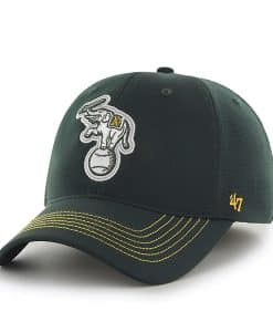 Oakland Athletics Game Time Closer Dark Green 47 Brand Stretch Fit Hat