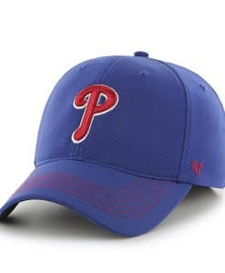 Philadelphia Phillies Game Time Closer Royal 47 Brand Stretch Fit Hat