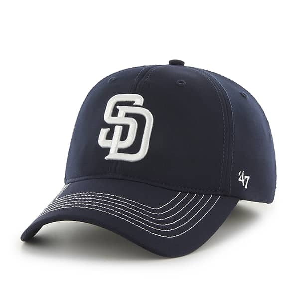 feafaebf72523 San Diego Padres Game Time Closer Navy 47 Brand Stretch Fit Hat - Detroit  Game Gear