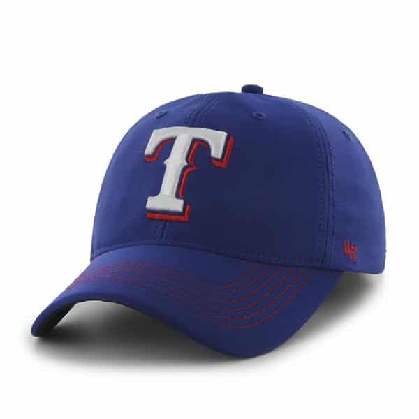 Texas Rangers Game Time Closer Royal 47 Brand Stretch Fit Hat