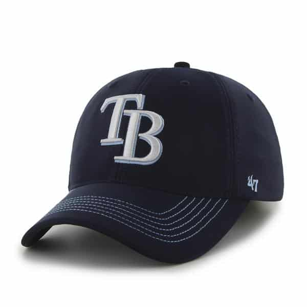Tampa Bay Rays Game Time Closer Navy 47 Brand Stretch Fit Hat