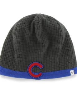Chicago Cubs Grid Fleece Beanie Charcoal 47 Brand YOUTH Hat