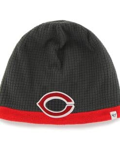 Cincinnati Reds Grid Fleece Beanie Charcoal 47 Brand YOUTH Hat