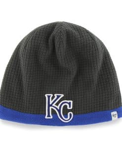 Kansas City Royals Grid Fleece Beanie Charcoal 47 Brand YOUTH Hat