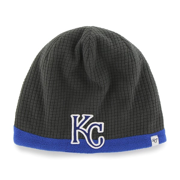 Kansas City Royals Grid Fleece Beanie Charcoal 47 Brand YOUTH Hat