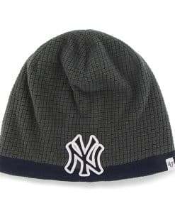 NY Yankees Grid Fleece Beanie Charcoal 47 Brand YOUTH Hat