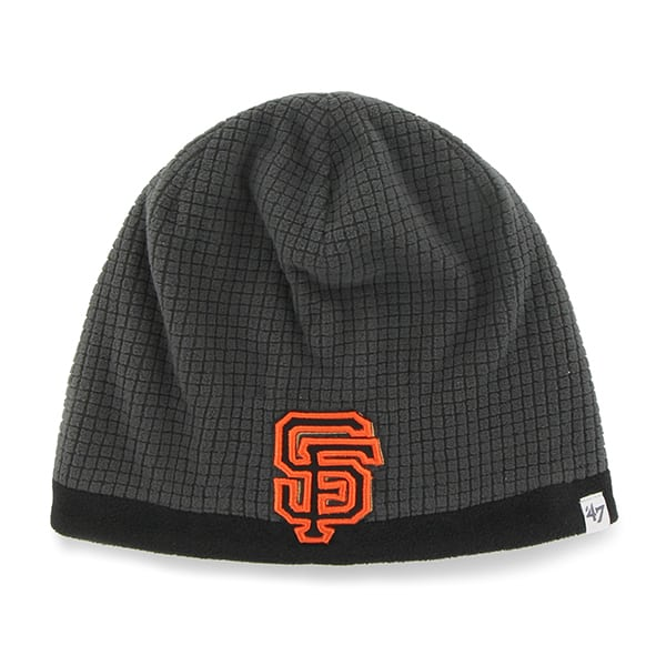San Francisco Giants Grid Fleece Beanie Charcoal 47 Brand YOUTH Hat