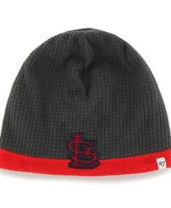 St. Louis Cardinals Grid Fleece Beanie Charcoal 47 Brand YOUTH Hat