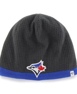 Toronto Blue Jays Grid Fleece Beanie Charcoal 47 Brand YOUTH Hat