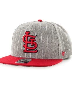 St. Louis Cardinals Holbrook Captain Gray 47 Brand Adjustable Hat