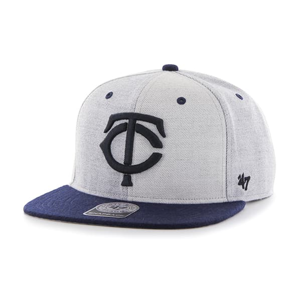Minnesota Twins Heather Wheel Captain Gray 47 Brand Adjustable Hat