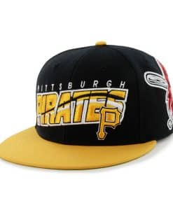 Pittsburgh Pirates Hazelwood Wool Black 47 Brand Adjustable Hat