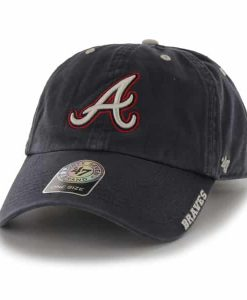 Atlanta Braves Ice Navy 47 Brand Adjustable Hat