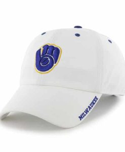 Milwaukee Brewers Ice White 47 Brand Adjustable Hat