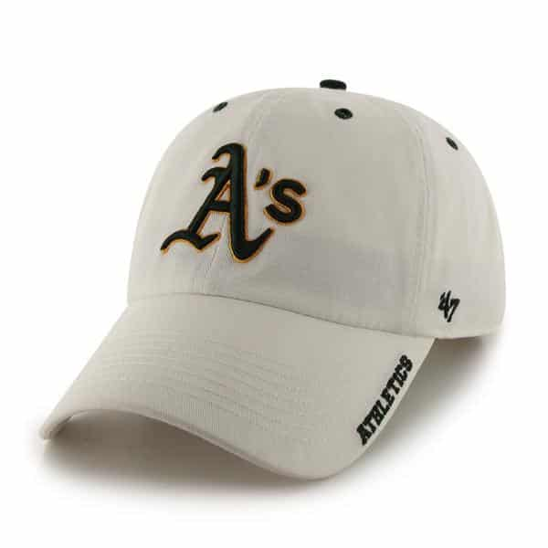 Oakland Athletics Ice White 47 Brand Adjustable Hat