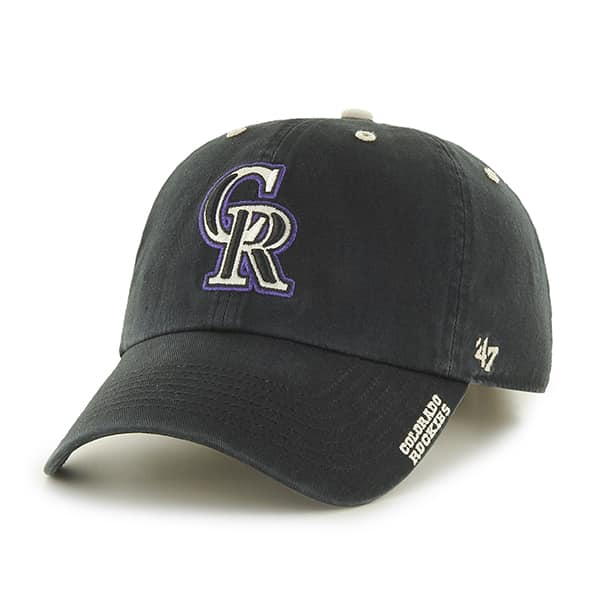 Colorado Rockies Ice Black 47 Brand Adjustable Hat