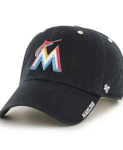 Miami Marlins Ice Black 47 Brand Adjustable Hat