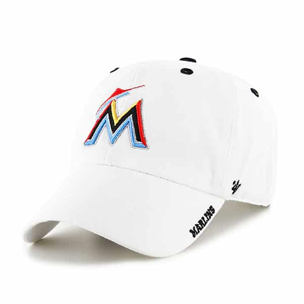 Miami Marlins Ice White 47 Brand Adjustable Hat