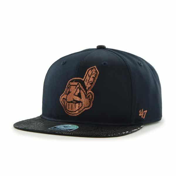 Cleveland Indians Juli Gunk Croc Vintage Navy 47 Brand Adjustable Hat