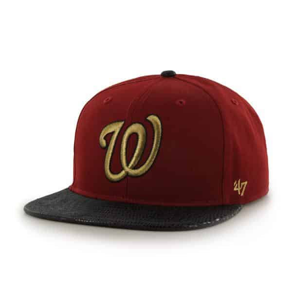 Washington Nationals Juli Gunk Croc Vintage Razor Red 47 Brand Adjustable Hat