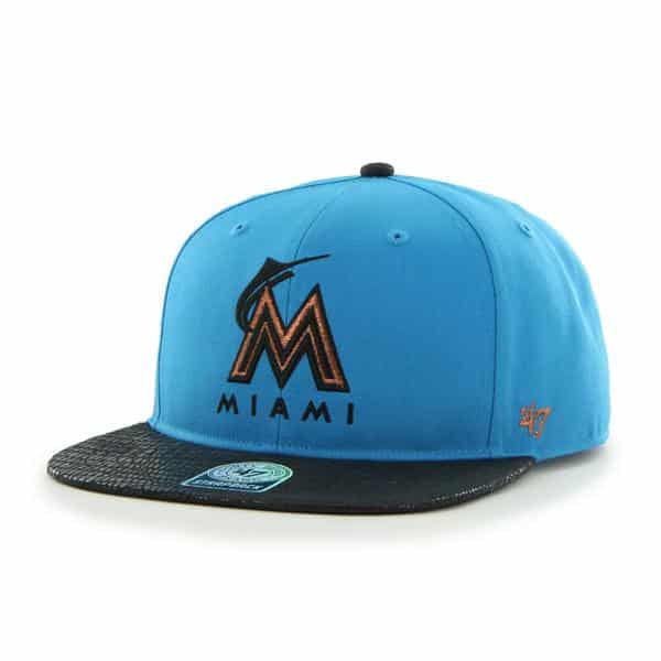 Miami Marlins Juli Gunk Croc Vintage Glacier Blue 47 Brand Adjustable Hat