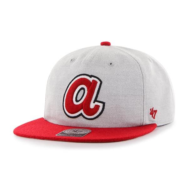 Atlanta Braves Lakeview Captain Rf Gray 47 Brand Adjustable Hat