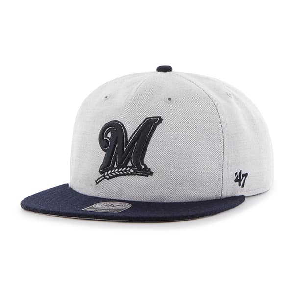 Milwaukee Brewers Lakeview Captain Rf Gray 47 Brand Adjustable Hat