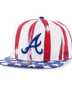 Atlanta Braves Log Cabin Captain White 47 Brand Adjustable Hat