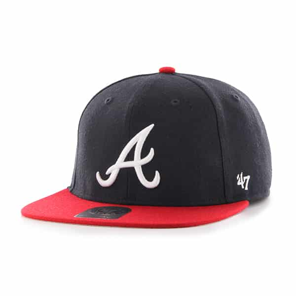 Atlanta Braves Lil Shot Two Tone Captain Navy 47 Brand YOUTH Hat