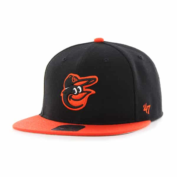 Baltimore Orioles Lil Shot Two Tone Captain Black 47 Brand YOUTH Hat
