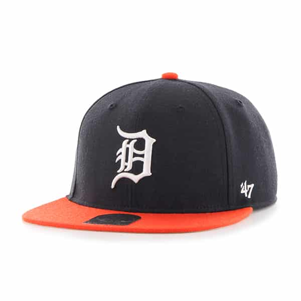 Detroit Tigers Lil Shot Two Tone Captain Navy 47 Brand YOUTH Hat
