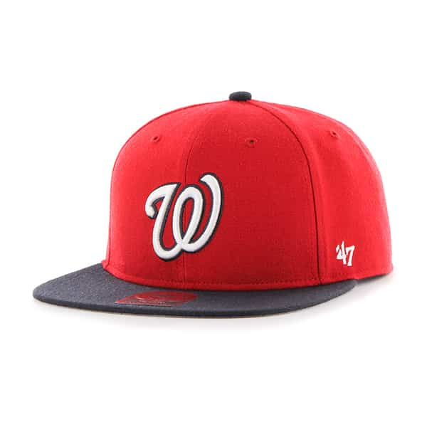 Washington Nationals Lil Shot Two Tone Captain Red 47 Brand YOUTH Hat