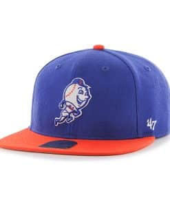 New York Mets Lil Shot Two Tone Captain Royal 47 Brand YOUTH Hat