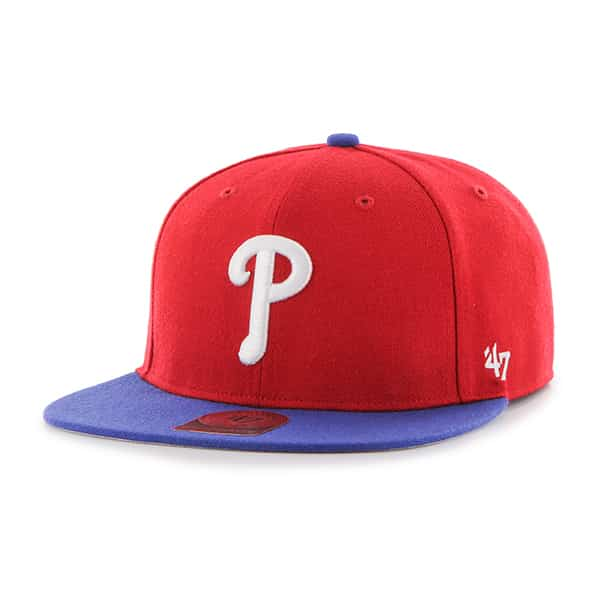 Philadelphia Phillies Lil Shot Two Tone Captain Red 47 Brand YOUTH Hat