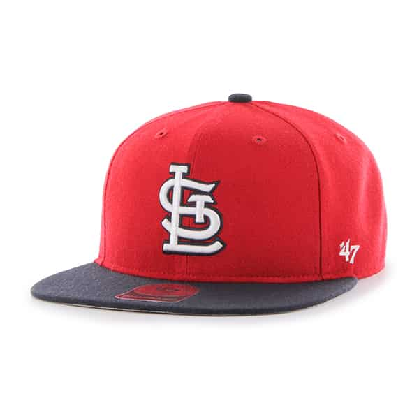 St. Louis Cardinals Lil Shot Two Tone Captain Red 47 Brand YOUTH Hat