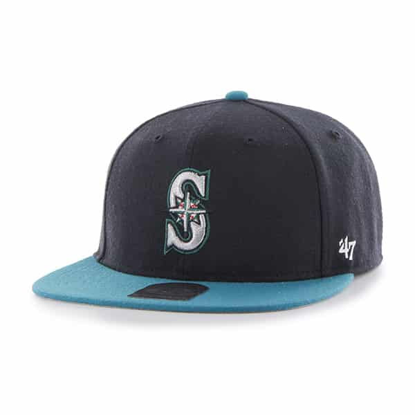 Seattle Mariners Lil Shot Two Tone Captain Navy 47 Brand YOUTH Hat