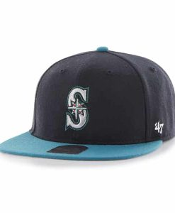 Seattle Mariners Lil Shot Two Tone Captain Navy 47 Brand KID Hat