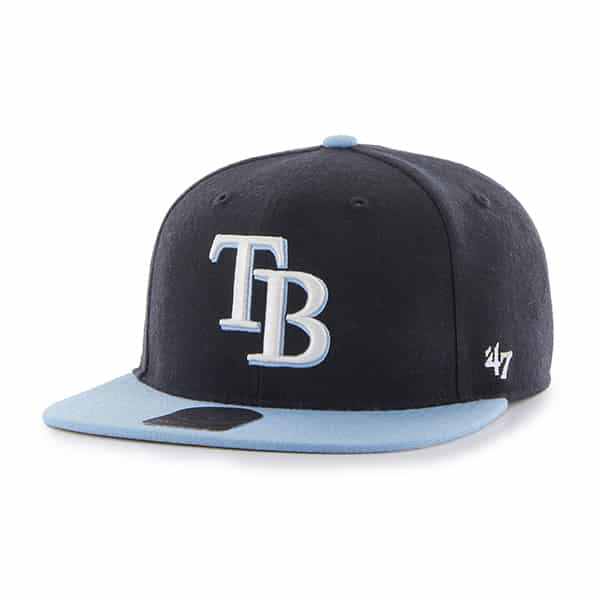 Tampa Bay Rays Lil Shot Two Tone Captain Navy 47 Brand YOUTH Hat